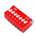 DIP switch DIP 2.54mm สวิตช์แบบ DIP 7 ช่อง ระยะห่างระหว่างขา 2.54mm