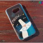Samsung Galaxy S7 Edge - เคส TPU เงาวับ ลายแมว Meow