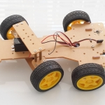 Smart Chassis Steercraft Steering Four Wheel with Servo รถ Smart car แบบ 4 ล้อพร้อม Servo