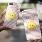 iPhone 7 Plus - เคสปิดขอบ ลายหน้ายิ้ม What's up?
