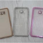 Samsung Galaxy S6 Edge Plus - เคสใสขอบสีเมทัลลิก TPU
