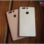 Huawei P9 Plus - เคสเคฟล่า TPU ( เงิน / ชมพู )
