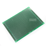 แผ่น PCB อเนกประสงค์อย่างดีสีเขียวแบบ 2 ด้าน ขนาด 7x9 cm