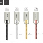 สายชาร์จ HOCO U8 Zinc Alloy Metal Light Cable (Android / Micro USB) แท้