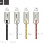 สายชาร์จ HOCO U8 Zinc Alloy Metal Light Cable (Android / Micro USB) แท้