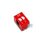 DIP switch DIP 2.54mm สวิตช์แบบ DIP ระยะห่างระหว่างขา 2.54mm ขนาด 2 ช่อง