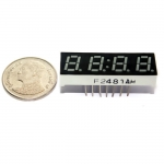 "7 Segment 0.28"" Common Cathode 4 digit Clock Red ไฟ 7 segment 0.28"" 4 หลักพร้อมจุดนาฬิกา สีแดงแบบไฟลบร่วม 2481AH"