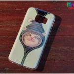 Samsung Galaxy S7 Edge - เคส TPU เงาวับ ลายแมว รูดซิบ