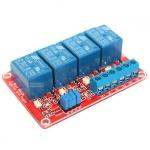 บอร์ดรีเลย์ 9V 4 Channel Relay 4 ช่อง Module Board for Arduino ทำงานได้ทั้งแบบ Active High และ Active Low