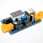 LM2596 DC 4.5-40 to 1.25-37V Step-Down Power Module LM2596 Step down Buck Converter พร้อมไฟ Volt meter และพอร์ท USB