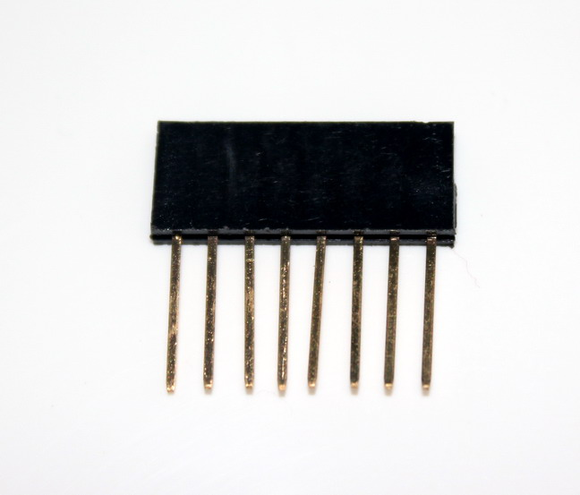 Stackable Header for arduino 2.54MM 8Pin 10MM Long Needle Female Pin Header Strip Stackable Header