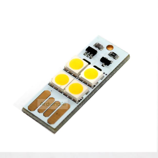 ไฟฉาย usb แบบสัมผัส MINI Touch Switch USB 4 LED