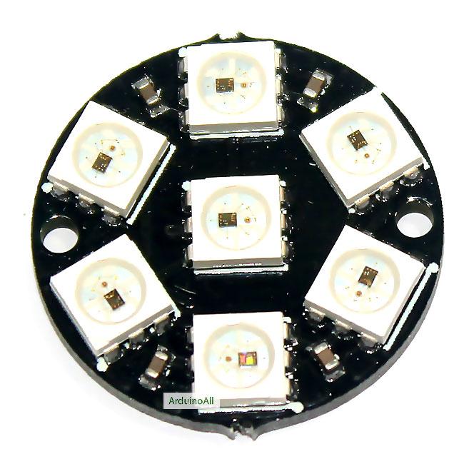 NeoPixel Ring 7 WS2812 RGB LED