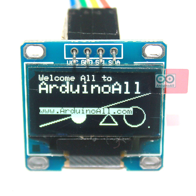 "OLED LCD LED Display Module 128X64 0.96"" For Arduino สีขาว"