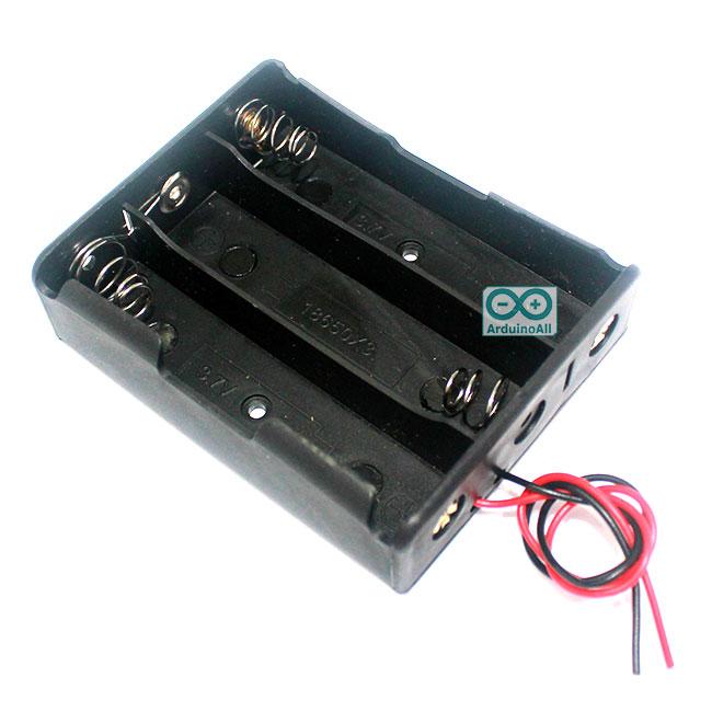 รางถ่าน lithium 18650 จำนวน 3 ก้อน 11.1V