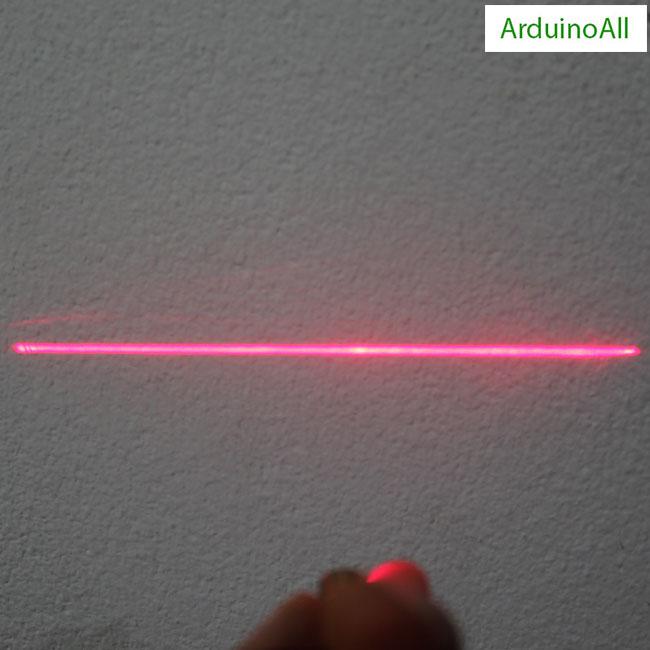 เลเซอร์ 3.3V laser แบบแสงเส้นตรง