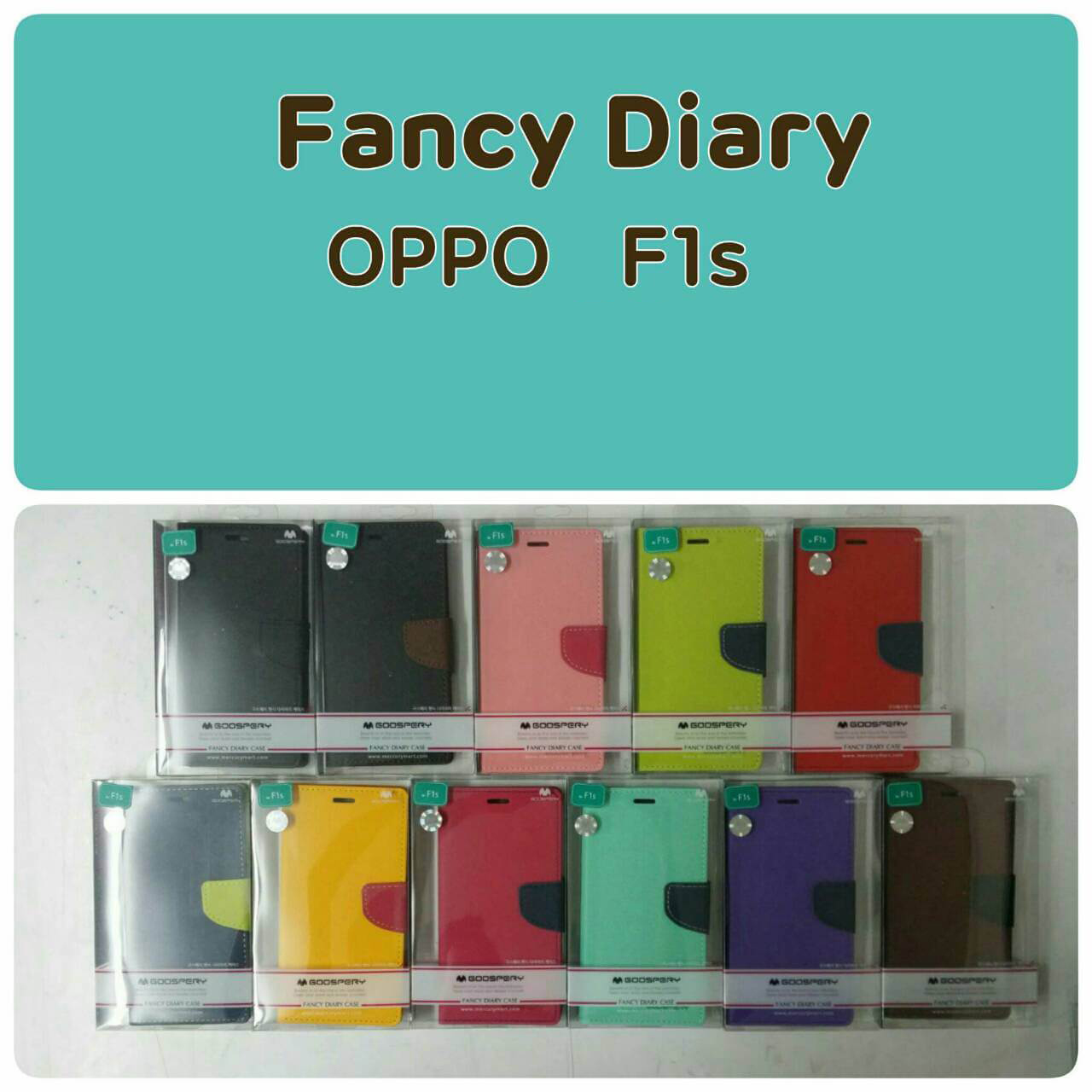 OPPO F1s - เคสฝาพับ Mercury Goospery Fancy Leather Case cover แท้