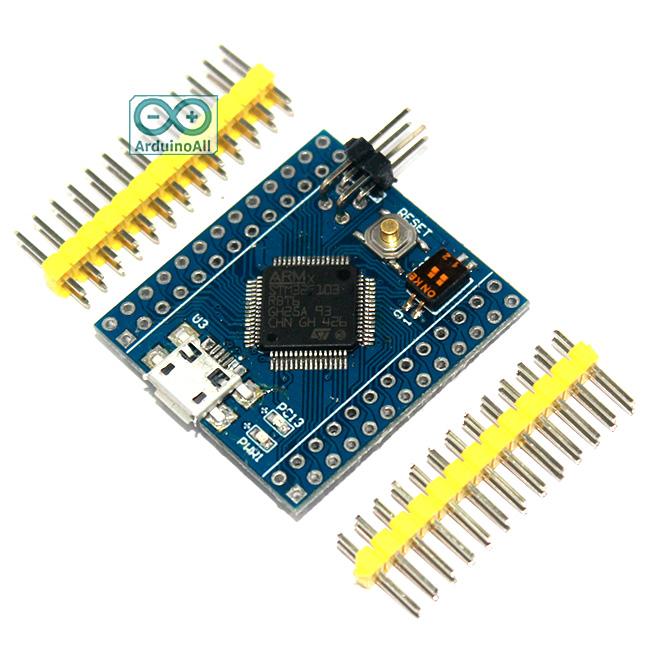 STM32F103RBT6 Mini STM32 cortex-M3 32bit Clock 72Mhz Flash 128K RAM 20K Arduino Compatible