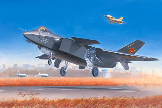J-20 Mighty Dragon Fighter 1:72 Plastic Model Kit TRUMPETER