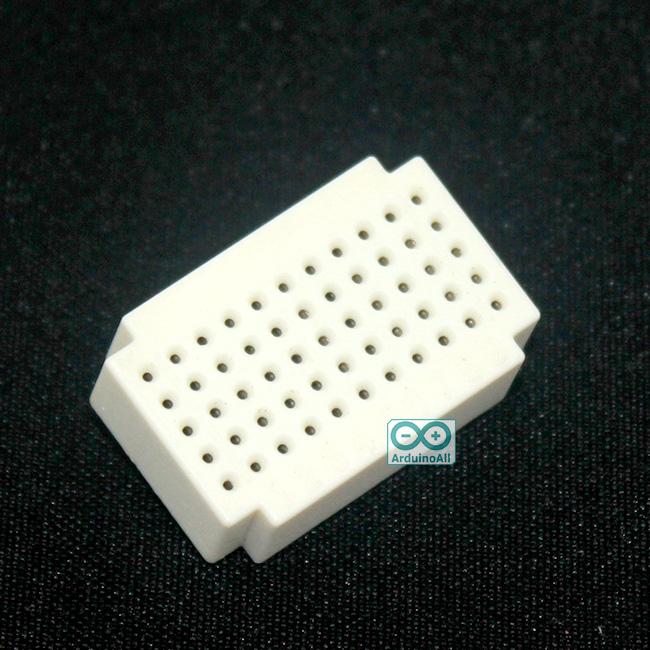 Breadboard แบบ Block ขนาดเล็ก 55 จุด สีขาว