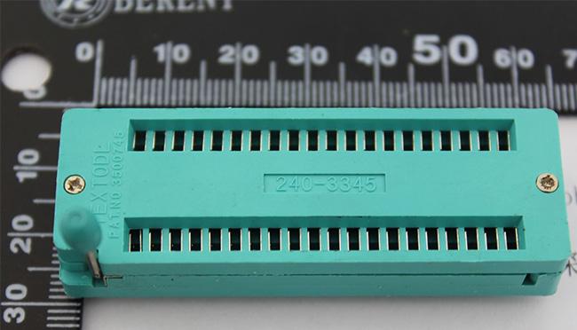 ZIF Socket 40 Pin Universal ZIF Dip IC Tester ซิฟซ็อคเกต อเนกประสงค์ สำหรับไอซีแบบดิพ 40