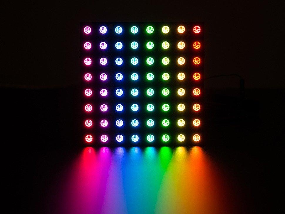 40 RGB LED Pixel Matrix NeoPixel Shield for Arduino