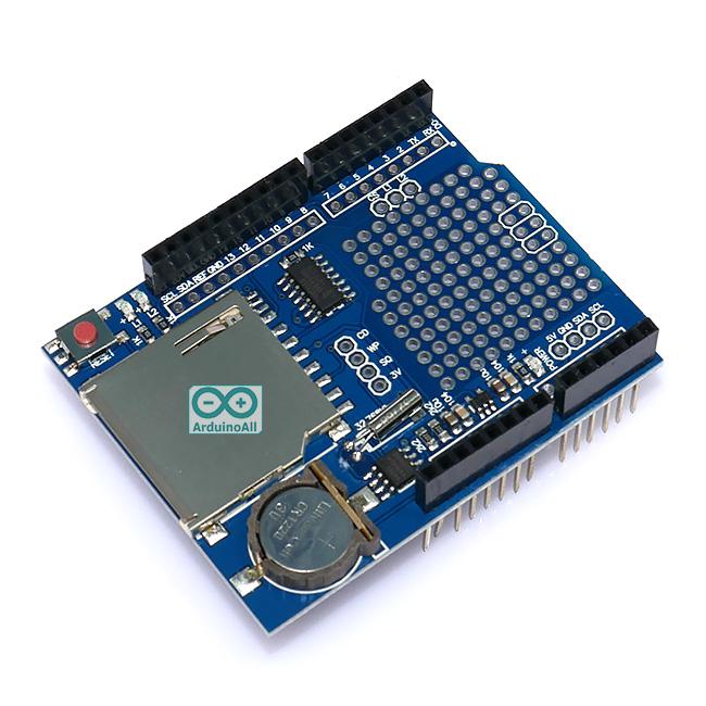 Data Logger Shield โมดูลบันทึกข้อมูลลง SD Card สำหรับ Arduino