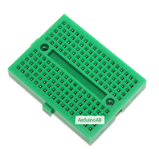 Breadboard 170 holes สีเขียว