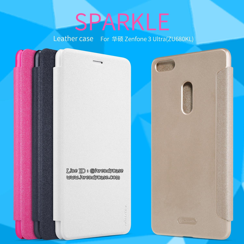 ZenFone 3 Ultra - เคสฝาพับ Nillkin Sparkle leather case แท้