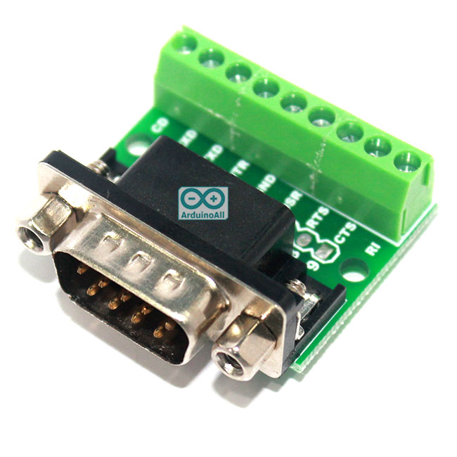 DB9 male transfer screw terminal 9 pin 9 hole RS232 RS485 conversion board